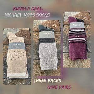 BUNDLE Michael Kors Combed Cotton Socks NWT
